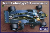 1/20 1982 Lotus Type 91 Team Lotus F1 British Grand Prix Race Car