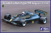 1/20 1982 Lotus Type 91 Team Lotus F1 Belgian Grand Prix Race Car