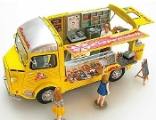 1/24 Citroen Type H Mobile Food (Crepe) Truck w/Interior Details & Figures