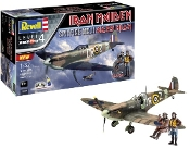 Spitfire Mk II Aces High Iron Maiden Fighter & 2 Pilot Figures w/paint & glue