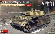 WWII PzBeobWg IV Ausf J Late/Last Production Tank w/5 Crew (2 in 1)